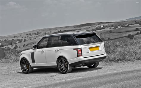 white range rover wallpaper white a kahn design land rover range rover by the road