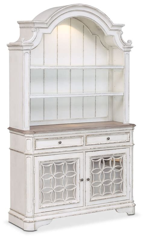 marcelle buffet  hutch vintage white american