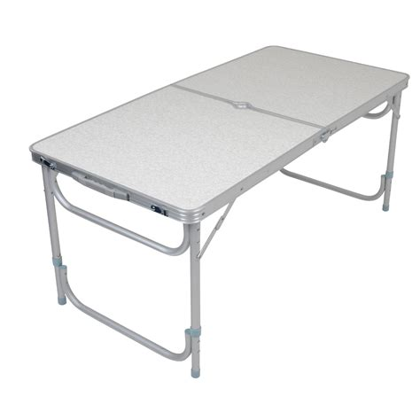 Portable Dining Tables Azuma Folding Portable Cing Outdoor Dining Table With Two Adjustable Heights Ebay