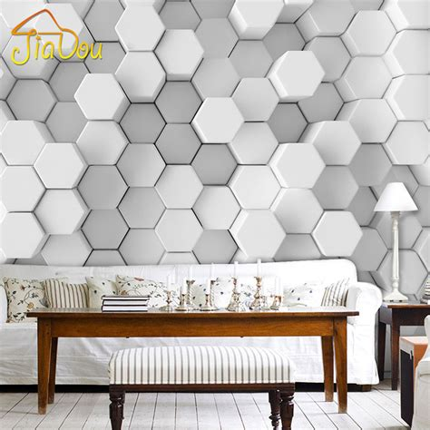 wallpaper for walls for office custom photo wall paper 3d stereoscopic geometric