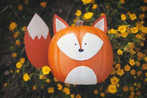 10 Easy No Carve Pumpkin These Woodland Creature No Carve Pumpkins Are The