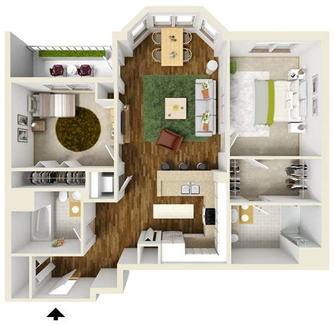 two floor bed two bedroom apartment floor plans queset commons