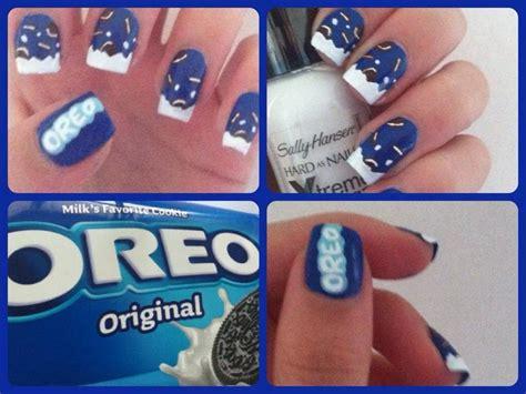oreo nail art tutorial oreo nail art youtube