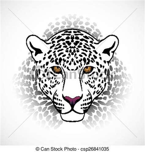 imagenes de jaguar para iluminar vectores de vector leopardo ejecutado en el forma de