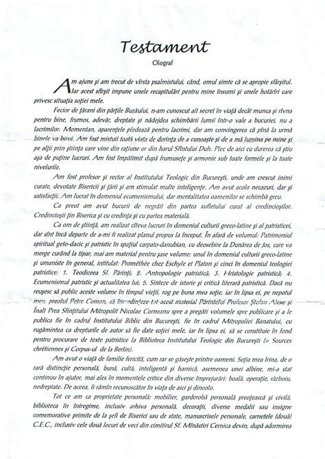 Model De Testament Autentic succesiune cabinetul avocatului quot pruteanu quot