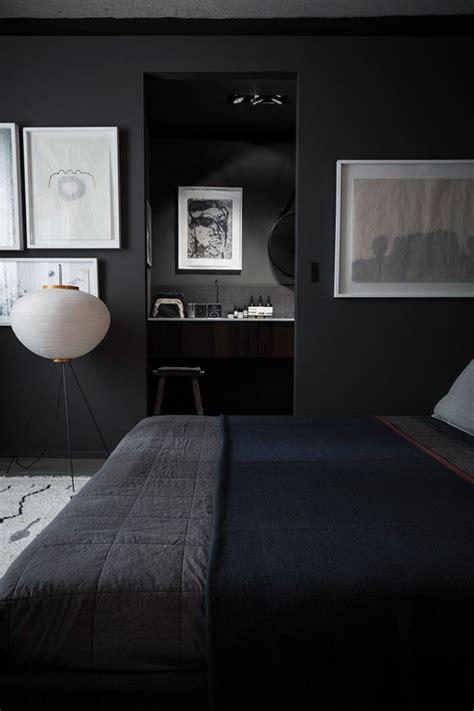 dark bedroom black paint dark rooms home decorating interior design