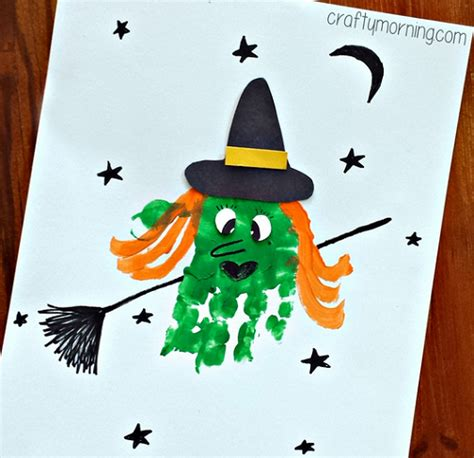 witch craft projects handprint witch craft for to make crafty morning