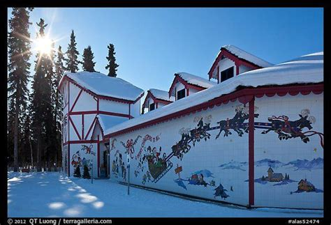 santa claus house santa claus house and sun in winter pole alaska usa color places i d like to go