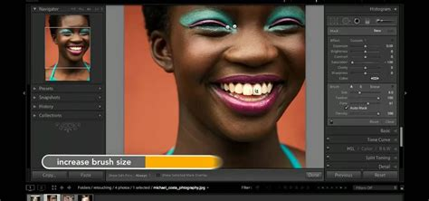 how to use white light smile how to use adobe lightroom to whiten teeth in a digital