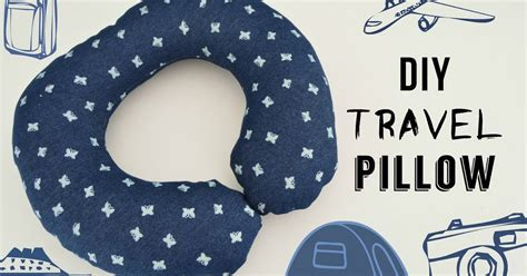Travel Pillow Diy by Vikalpah Diy Travel Pillow Diy Pattern Included