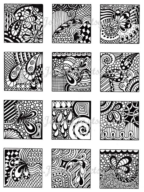 doodle lines cheats digital collage sheet black and white images abstract