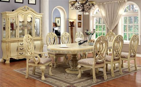 Majesta Antique White Dining Set