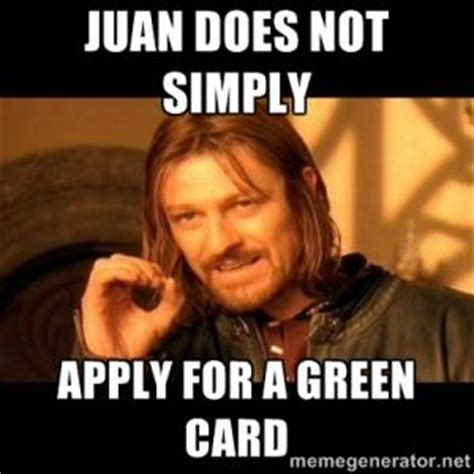 Green Card Meme - green card jokes kappit