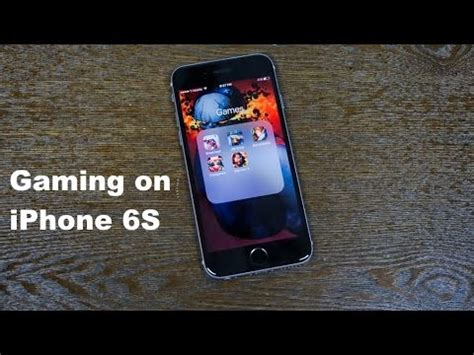 gaming on the iphone 6s
