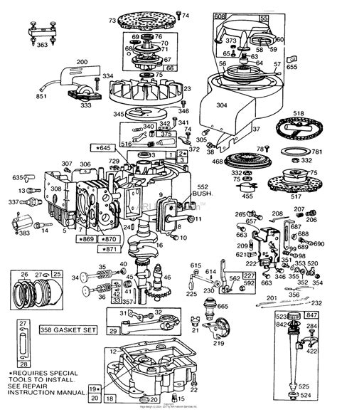 briggs and stratton 158cc carburetor diagram inspiring briggs and stratton 500 series parts diagram