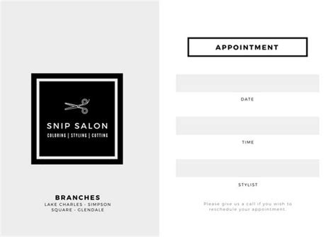 customize  appointment card templates  canva