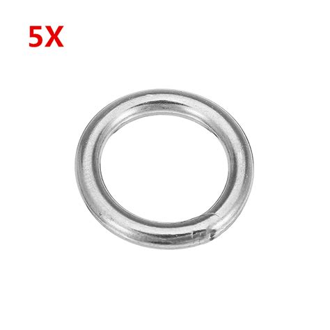 O Ring Stainless 8x50mm Welded Stainless Ring 5pcs 3x20mm 304 stainless steel o ring welded marine