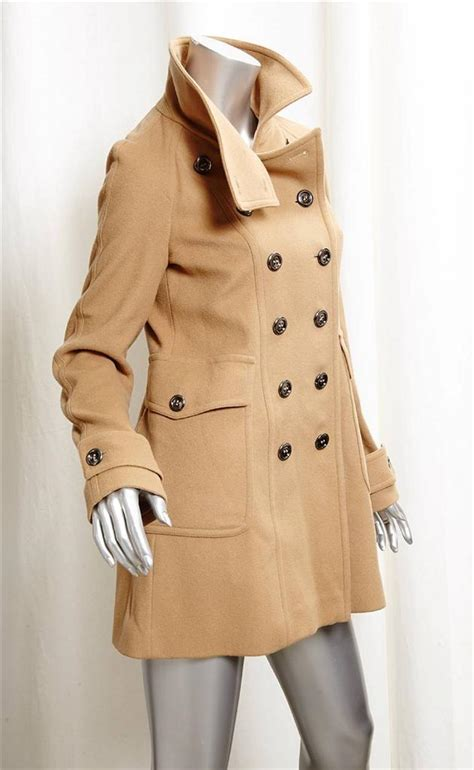 camel colored coat womens burberry womens camel wool breasted