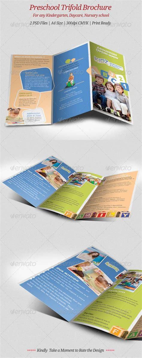 templates brochure kindergarten preschool trifold brochure brochures preschool and