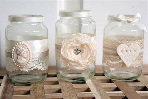 vasi di vetro decorati vasetti vetro spazio alla fantasia oggetti di casa