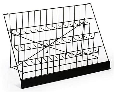 Countertop Wire Display Racks by Wire Countertop Rack Adjustable Slots For Magazines