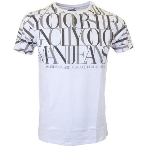 Armani T Shirt armani a6h96 regular fit white t shirt armani