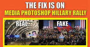Treehouse Vs - clinton s dismal florida rally photoshopped by dishonest media to look full truthfeed