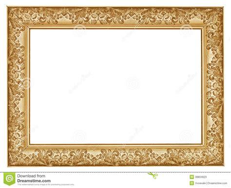 moldura para retrato de madeira larga cinzelada dourada