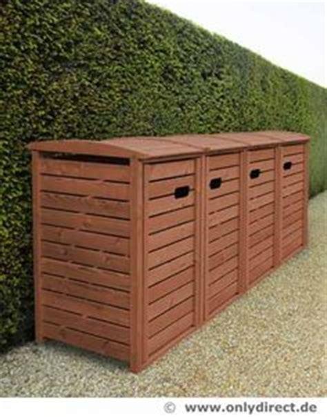 Terrasse Mit Sichtschutz 6110 by 3er M 252 Lltonnenbox Holz Anthrazit Grau Reihenhausgarten