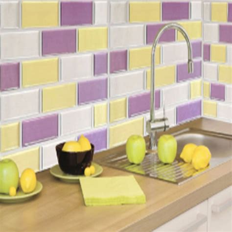 wall adhesive stickers ᗖmosaic wall tile vinyl wall wall stickers tile self