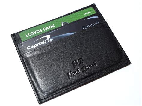 Real Black Leather Credit Card Slim Holder Ma 007 black real leather s small id credit card wallet holder slim pocket ebay