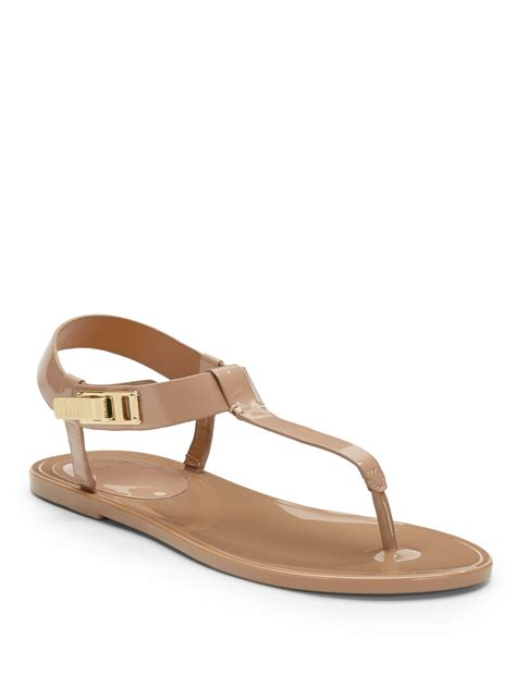 brown jelly sandals aerin jelly sandals in brown taupe lyst