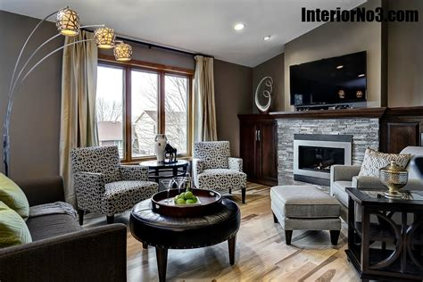 contemporary split level remodel living room interiorno