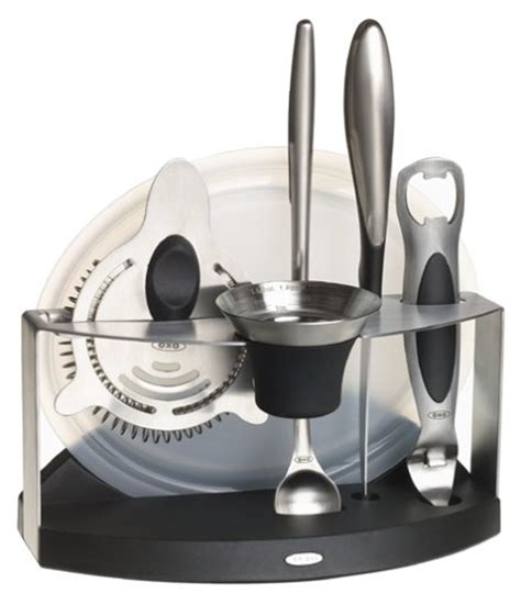 Oxo Steel 7 Barware Set oxo steel 7 barware set the kitchen gadget