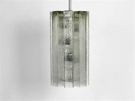 extra large glass pendant lamp  doria mid century modern