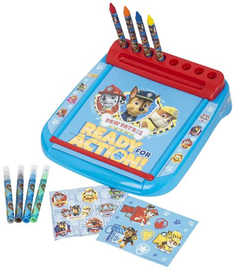 paw patrol desk paw patrol roll go drawing marshall rubble