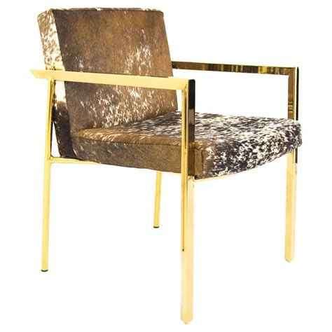Cowhide Dining Chair Cowhide Dining Armchair For Sale At 1stdibs