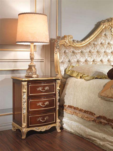 classic italian bedroom 18th century night table