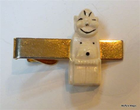 billiken ivory vintage lucky billiken ivory tie clasp by lauraab51 on