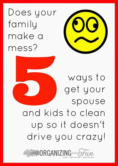 7 Ways To Get Your To Clean Up by Help Your Spouse Become More Organized Simply Organized