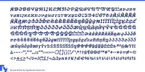 Font Acrylic fontspring acrylic brush font by typodermic fonts inc