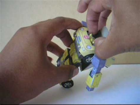 How To Make A Paper Transformer Bumblebee - transformers papercraft bumblebee