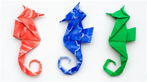 Seahorse Origami - origami seahorse how to make an origami