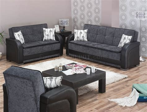 okc futon oklahoma sofa bed in grey fabric black vinyl w options