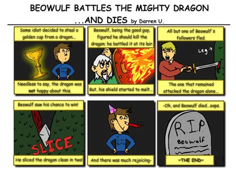 Beowulf Three Battles Essay by Beowulf Comic By Fullmetal 0240 On Deviantart