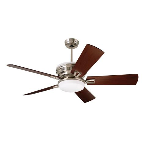 home depot emerson ceiling fans emerson portland eco 54 in brushed steel ceiling fan