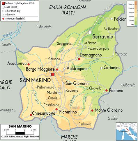 map of san marino san marino wetterkarte