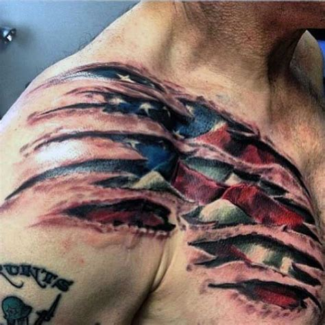 tattoo of us is it real 50 ripped skin tattoo designs for men manly torn flesh ink