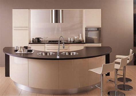 curved kitchen designs mobila de bucatarie cu forme rotunde este luxul pe care