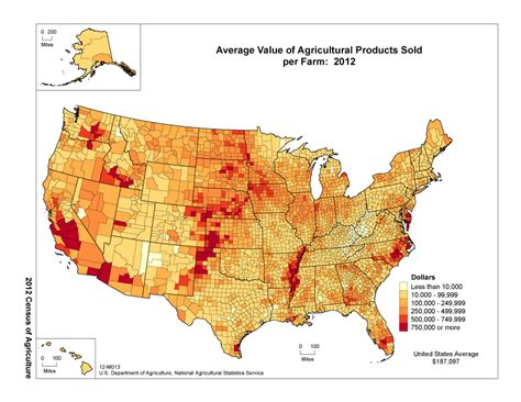agriculture map of usa usda nass census of agriculture 2012 census ag atlas